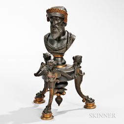 Grand Tour Patinated Bronze Bust Table Ornament