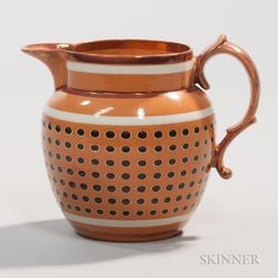 Yellow-bodied Strawberry Lustre Jug