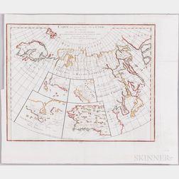Russia, Siberia, Alaska, Arctic Circle, Seventeen Maps, 17th to 19th Century.
