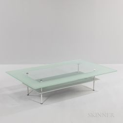 J.P. Cailleres for Ligne Roset Modernist Glass Coffee Table