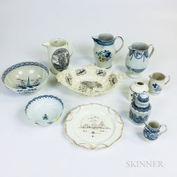 Eleven Pieces of English Ceramic Tableware