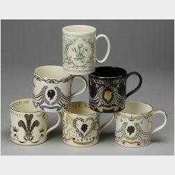 Six Wedgwood Commemorative Mugs
