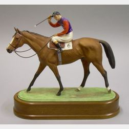 Royal Worcester Bone China Model of The Winner