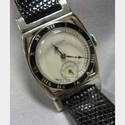 "Art Deco 14kt White Gold ""Piping Rock"" Wristwatch, Hamilton"