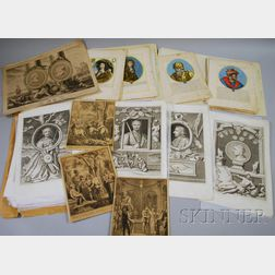 Eighty Assorted Mostly European 18th and 19th Century Prints
