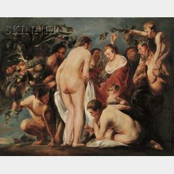 Manner of Sir Peter Paul Rubens (Flemish, 1577-1640)      Bacchantes and Satyrs