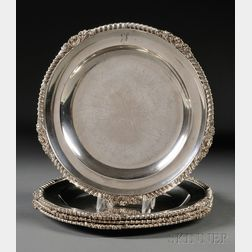 Four George III Silver Meat Plates