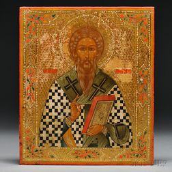 Russian Icon Depicting St. John the Merciful Patriarch of Alexandria