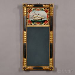 Classical Gilt and Ebonized Split-baluster Mirror