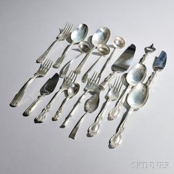 Eighteen Tiffany & Co. Sterling Silver Serving Pieces