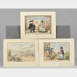 Rowlandson, Thomas (1756-1827) and others: Nineteen Caricature Prints.