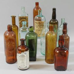 Fifteen Glass Bottles