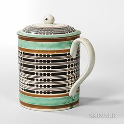 Pearlware Quart Mug and Cover