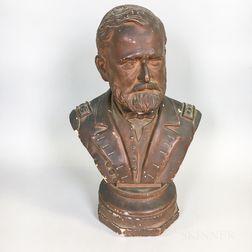 Bernard Dreyfuss Plaster Bust of Ulysses S. Grant