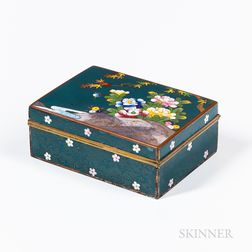 Green Cloisonné Box