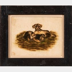Watercolor on Velvet Theorem with Two Playful Puppies