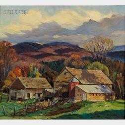 Otis Pierce Cook, Jr. (American, 1900-1980)      Beebe River, New Hampshire