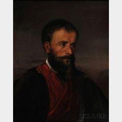 James Edward Freeman (American, 1808-1884)      Man in a Red Shawl Collar