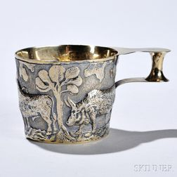 "Edward VII Sterling Silver-gilt Reproduction ""Vapheio Cup,"""