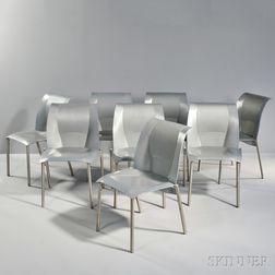 Eight Frank Gehry Fog Chairs