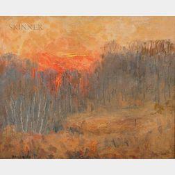 John Nichols Haapanen (American, 1891-1968)      Autumn Sunset