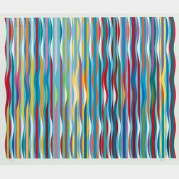 Yaacov (Jacob Gipstein) Agam (Israeli, b. 1928)      Untitled (Waves)