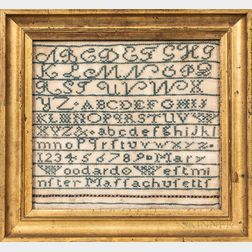 "Needlework Sampler ""Mary Woodard,"""
