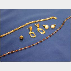 Group of Gold and Bead Jewelry