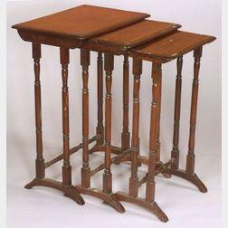 Nest of Three Regency-style Mahogany Tables