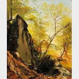 Jervis McEntee (American, 1828-1891)      Autumn Landscape