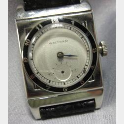 Art Deco 14kt White Gold Wristwatch, Waltham