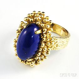 18kt Gold and Lapis Lazuli Ring