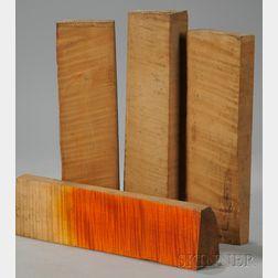 Four Quartersawn Maple Viola Neck Blocks.