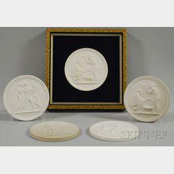 "Set of Four Royal Copenhagen ""Four Seasons"" Parian Wall Plaques"