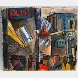 Cristy Gava (Uruguayan, 1916-1985)      Building Abstraction, Piriapolis, Uruguay.