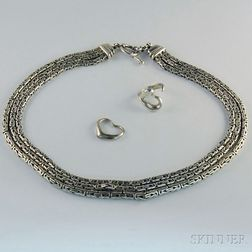 Three Pieces of Sterling Silver Jewelry Including Tiffany