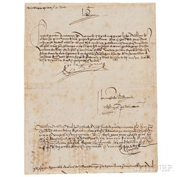 Isabella, Queen of Spain (1451-1504) Document Signed, December 1501.