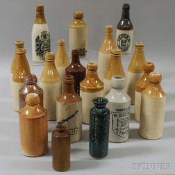 Twenty Stoneware Bottles
