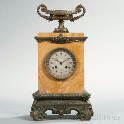 French Marble and Bronze Shelf Clock