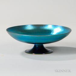 Steuben Blue Aurene Tazza