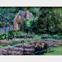 Robin Oliver (American, b. 1958)      Wheelbarrow, James Garden