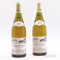 Jaffelin Montrachet 1986, 2 bottles