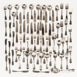 "Frank W. Smith ""Fiddle Thread"" Partial Sterling Silver Flatware Service"