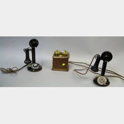 Two Candlestick Desk Telephones