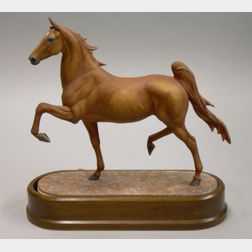 Royal Worcester Bone China Model of the American Saddle Horse