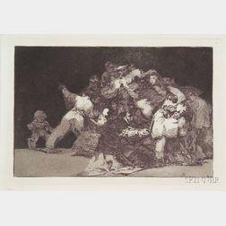 Francisco de Goya (Spanish, 1746-1828)      Unas de Gato y Habito de Beato