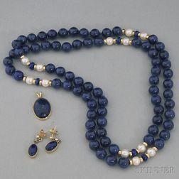 Small Group of Lapis Lazuli Jewelry