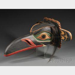 Northwest Polychrome Carved Wood Mask