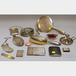 Assembled Group of Mostly Sterling Silver and Silver-mounted Personal and Vanity   Items