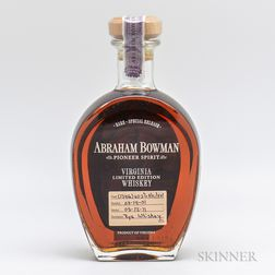 Abraham Bowman Rye Whiskey 10 Years Old 2001, 1 750ml bottle